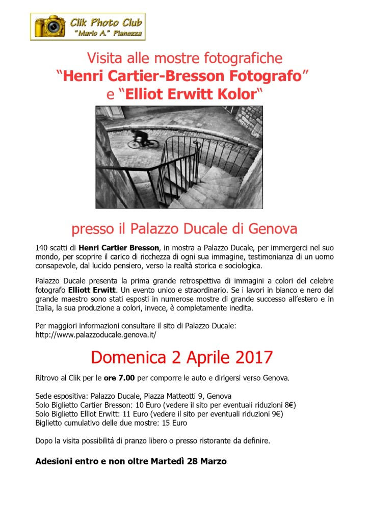 Gita a Genova mostra Cartier Bresson – Erwitt