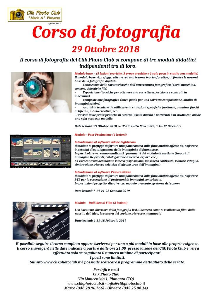 Corso di fotografia 2018-2019
