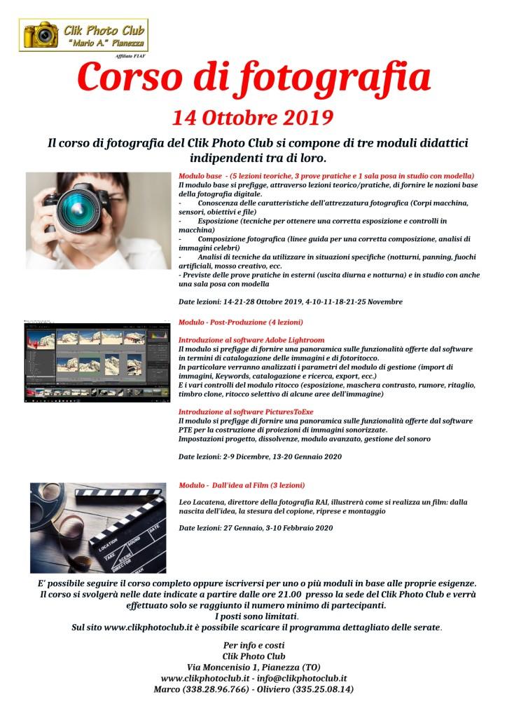 Corso foto 3 moduli 2019-2020