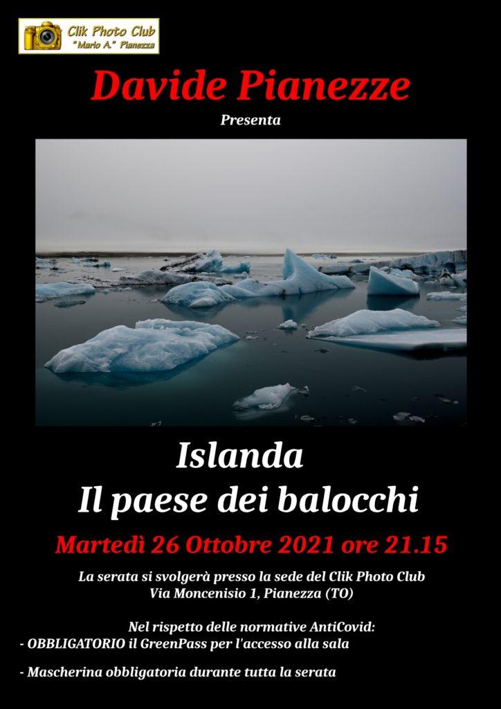Martedì 26 Ottobre 2021